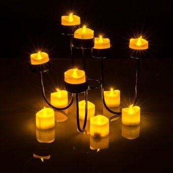 GAKTAI 24Pcs Battery Operated Flameless Flickering Tea lights LED Tea Candle for Party (Warm White) - intl