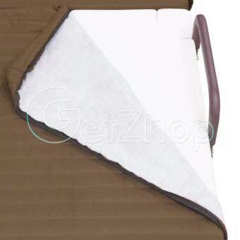 Getzhop เตียงเสริมพับได้ เตียงนอนพับได้ เตียงเหล็ก พร้อมเบาะรองนอน Premiumreinforce folding bed (สีน้ำตาล) แถมฟรี! ผ้าคลุมเตียง ผ้าห่ม หมอน (คละสี) รีวิว