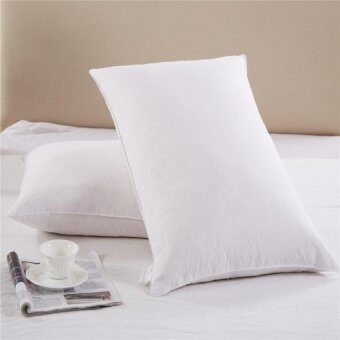 Goose Down And Feather Filling Queen Bed Pillows 2-Pack Cottoncover 300 Tc Queen / Standard Size - intl