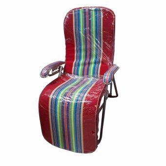 รีวิว GraceShop เตียงนอนเศรษฐี เก้าอี้ ปรับนอนเอนได้ 3 ระดับ(สีลายทางโทนแดง