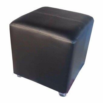 GraceShop เก้าอี้ ทรงสตูล เบาะสี่เหลี่ยม รุ่น Stool 1 (สีดำ)