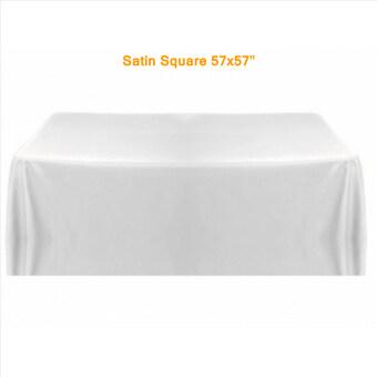 ขอเสนอ Grandmise โต๊ะคลุมผ้าปูโต๊ะขาวสำหรับการตกแต่งงานแต่งงานเลี้ยง 145ซมx 145ซมต่วนตัวใหม่