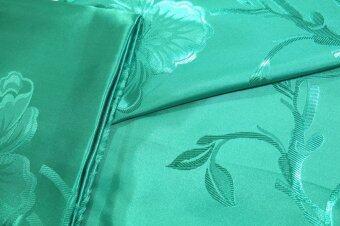 GREEN Silky Satin Blanket ผ้าแพรเพลาะ กันไรฝุ่น Cool Blanket for Summer (สีเขียว)