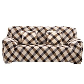 ประกาศขาย Grid Cloth Art Sofa Cover Spandex Stretch Printed Slipcover - intl