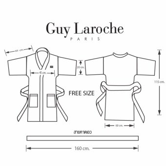GuyLaroche Bathrobe Collection Free Size (Grey) - 5