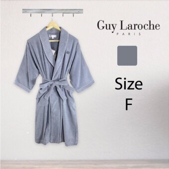 GuyLaroche Bathrobe Collection Free Size (Grey) - 2