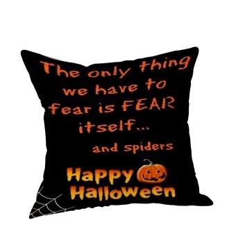 Halloween Pillow Cases Linen Sofa Pumpkin ghosts Cushion Cover Home Decor B - intl