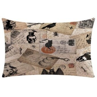 Halloween Rectangle Cover Decor Pillow Case Sofa Waist Throw Cushion Cover B - intl