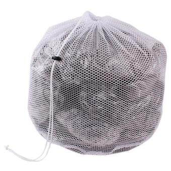 Hang-Qiao Clothes Wash Laundry Thicken Mesh Net Portable Wash Bag67*46cm (White)
