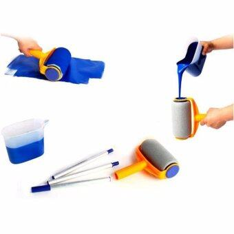 Hanyu Multi-function Handle Paint Roller Set Painting Brush Point NPaint Household Decorative Tool(White+Orange) - intl