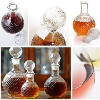 HAOFEI Crystal Whiskey Wine Shot Glass Bottle With Cap Stopper500ML Clear