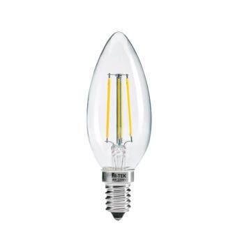 HI-TEK RETRO SERIES หลอดจำปา LED แบบมีไส้ ทรงเปลวเทียน 4W E14 แสงนวล
