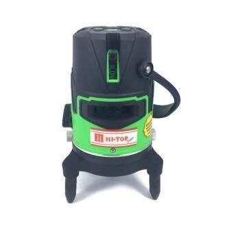 Hi-Top เครื่องวัดระยะเลเซอร์ 5 เส้น หลอด LED แสงสีเขียวแบตเตอรี่+ถ่าน AA รุ่น LS-5LG (สีเขียว)