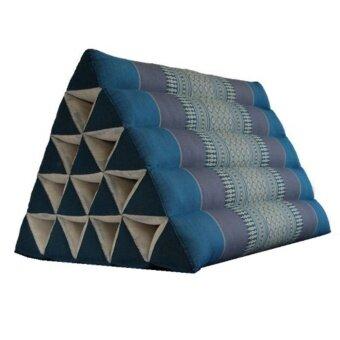 หมอน หมอนพิง หมอนอิงสามเหลี่ยม 15 ช่องใหญ่ สีฟ้า (60x50x50)