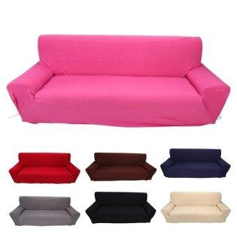 ขายด่วน Home Furniture Chair 3 Seater Sofa Couch Stretch Protect CoverSlipcover (Rose Red) - intl