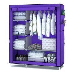 Hommy ตู้เสื้อผ้า 2 บล๊อค - สีม่วง001
