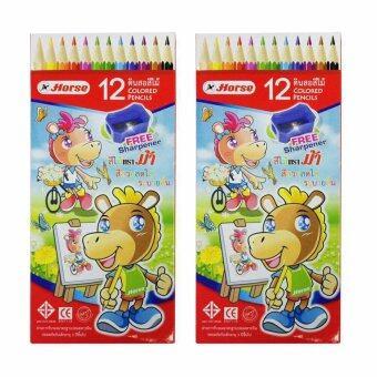 รีวิวพันทิป Horse ตราม้า ดินสอสีไม้ยาวH-2080/12 12 สี - แพ็คคู่
