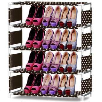 HOUSE BRAND Shoe Rack ชั้นวางรองเท้า 5 ชั้น - Brown Dot