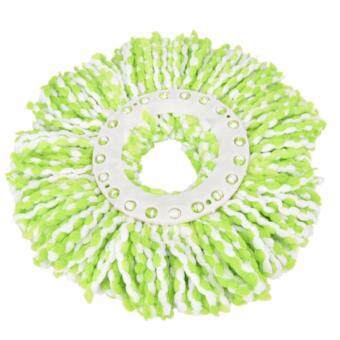 Household Magic Replacement Refill 360°Spin Cleaning Pad Microfiber Mop Head Green&White - intl