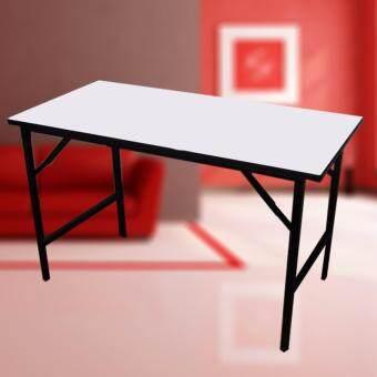 โปรโมชั่นพิเศษ I-Smart โต๊ะพับได้อเนกประสงค์ขาพับ(โต๊ะประชุม)โครงขาเหล็กชุบแข็งแรง รุ่น 120x60x75 ( สีขาว )
