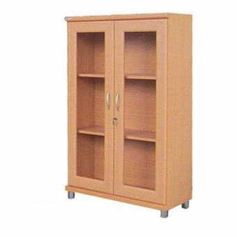 RF Furniture ตู้เอนกประสงค์ ทั้งเก็บเอกสาร และ โชว์ของรุ่น FL801A AMRP ( สีบีช )