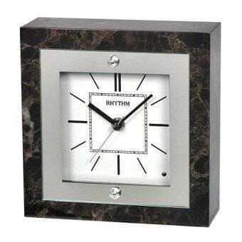 RHYTHM นาฬิกาตั้งโต๊ะ Chime&Melodies รุ่น CRH201nr06 - Brown/Marbled
