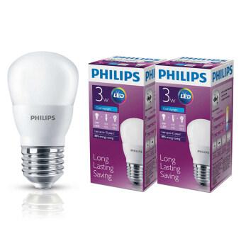 Philips หลอด LED BULB 3 วัตต์ ขั้ว E27 แสงเดย์ไลท์ (2 ดวง)