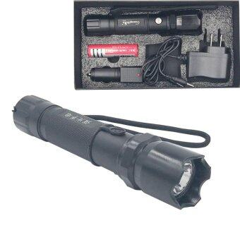 Marverlous ไฟฉาย แรงสูง ซูมได้ Flashlight Torch Lamp 4 in 1 set-สีดำ