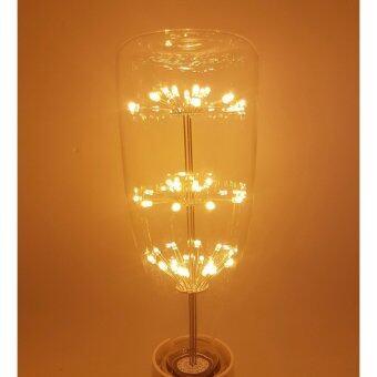 ( 1 ชิ้น ) E27 LED Filament Light Bulb Lamp 9W Vintage Retro Edison Style Warm White 2700K หลอดไฟ เอดิสัน LED 9 วัตต์ ทรงย้อนยุค ทรงขวดเหล้า ขั้ว E27 รุ่น 2200k ( 1 ชิ้น ) By P2warship shop