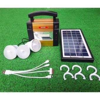 Light Farm ชุดไฟนอนนา 901 ชุดเซ็ทโซล่าเซลล์ Nonna 901 (พร้อมหลอดไฟ 3 หลอด +สาย USB ) ชุด solar cell อเนกประสงค์ แพ็ค 1 ชุด