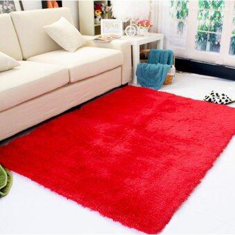 ขนกันลื่นพรมปูพื้น/ปูเสื่อ 80ซม x 120ซม (สีแดง) - intl