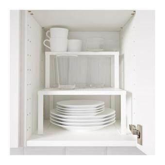 ชั้นวางแก้ว วางของ ต่อเสริมในตู้ สีขาว ขนาด 32x28ซม. HomeSmile