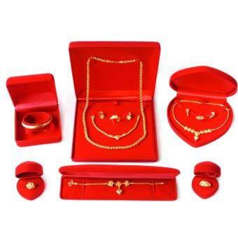 ชุดกล่องกำมะหยี่ กล่องใส่ทอง (สีแดง/แดง) สำหรับใส่สินสอดงานขันหมาก