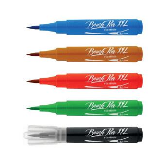 ปากกา ICO BRUSH-PEN ปากกา สีน้ำปลายพู่กัน XXL - ชุด 10 สี
