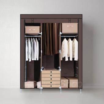 Replica Shop ตู้เสื้อผ้า 3 บล็อค พร้อมผ้าคลุม รุ่น 28127-3-3 (สีน้ำตาล)