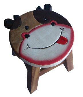 Tano Stool เก้าอี้ไม้แกะสลักลายวัว