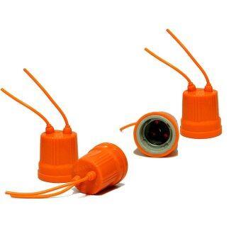 ขั้วหลอดไฟมีสายไฟ สีส้ม (4 ชิ้น)