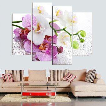 30ซม x 80ซม 4ชิ้นไม่มีกรอบสีชมพูบนผนังภาพวาดดอกไม้ภาพวาดศิลปะการตกแต่งบ้านที่ทันสมัยพิมพ์