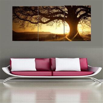 30ซม x 40ซมไร้กรอบ 3แผ่นภาพวาดสมัยพิมพ์ภาพต้นไม้ภาพการตกแต่งบ้านพระอาทิตย์ Cuadros (image 3)