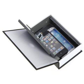 ความปลอดภัยสมุดเงินสดเครื่องเพชรพลอยพจนานุกรมเก็บกล่องล็อคกุญแจรักษาความปลอดภัยสีดำ