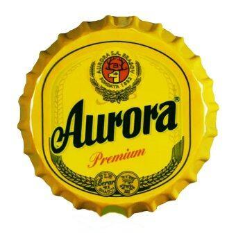 ป้ายฝาเบียร์ สังกะสีตกแต่งบ้านหรือร้านค้า ขนาด 5x35 cm H001