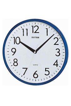 RHYTHM นาฬิกาแขวน รุ่น CMG716-NR11 (สีน้ำเงิน)
