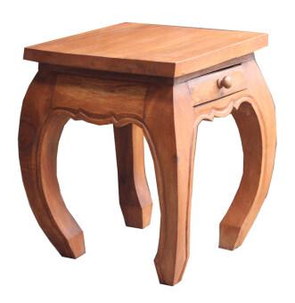 โต๊ะวางของ มีลิ้นชัก สีธรรมชาติ