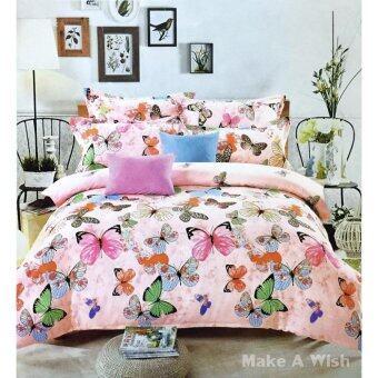 Lily Bedding ชุดผ้าปูที่นอน 6 ฟุต 6 ชิ้น พร้อมผ้านวม เกรด A ลาย PR099