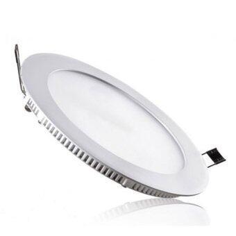 LEDANDLAMP หลอดไฟ LED Panel Slim ทรงกลม พร้อมชุดอุปกรณ์สำเร็จ ขนาด 9 w. ( แสงสีขาว แพ็ค 6 หลอด )