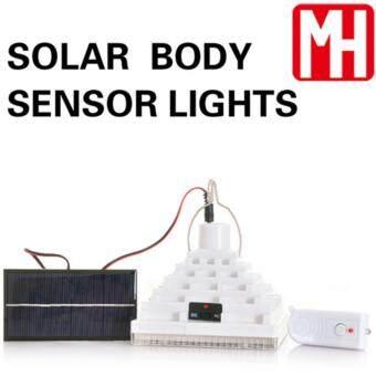 โคมไฟโซล่าเซลล์ ผนัง 25 LED พลังเเสงอาทิตย์ (เปิดปิดเอง)