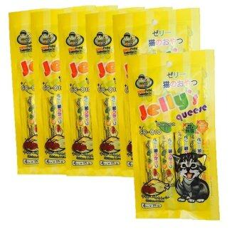 Petto tomodachi Jelly's queese แมวเลีย รสไก่และตับ 15gx4 ( 6 units )