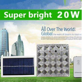 GOGO Solar โคมไฟโซล่าเซลล์ 25 LED (พร้อมขายึด) (เเสง : ขาว)