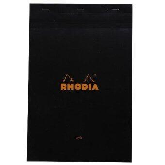 Rhodia สมุดโน๊ตแบบฉีกได้ A4 21.0x31.8 ซ.ม. รุ่น Rhodia Basics Bloc No.19 เนื้อกระดาษ 80 g สีขาว มีเส้น ปกสีดำ