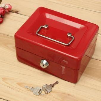จัดการเปลี่ยนกล่องโลหะเงินสดที่เก็บเงินรักษา Desposit บ้านสีแดง